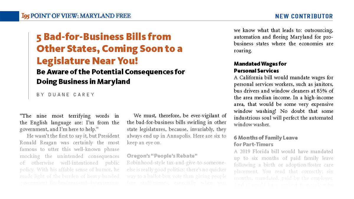 5 Bad-for-Business Bills from Other States, Coming Soon to a Legislature Near You!