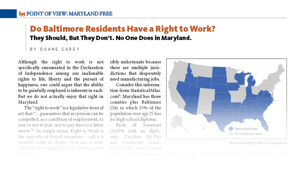 Do Baltimore Residents Have A Right To Work?