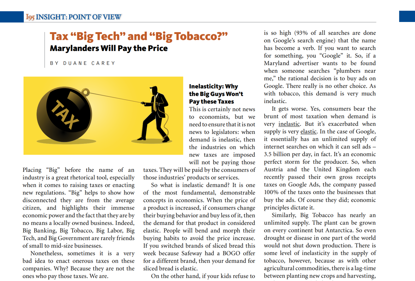 """Tax """"Big Tech"""" and """"Big Tobacco?"""" Marylanders Will Pay the Price"""